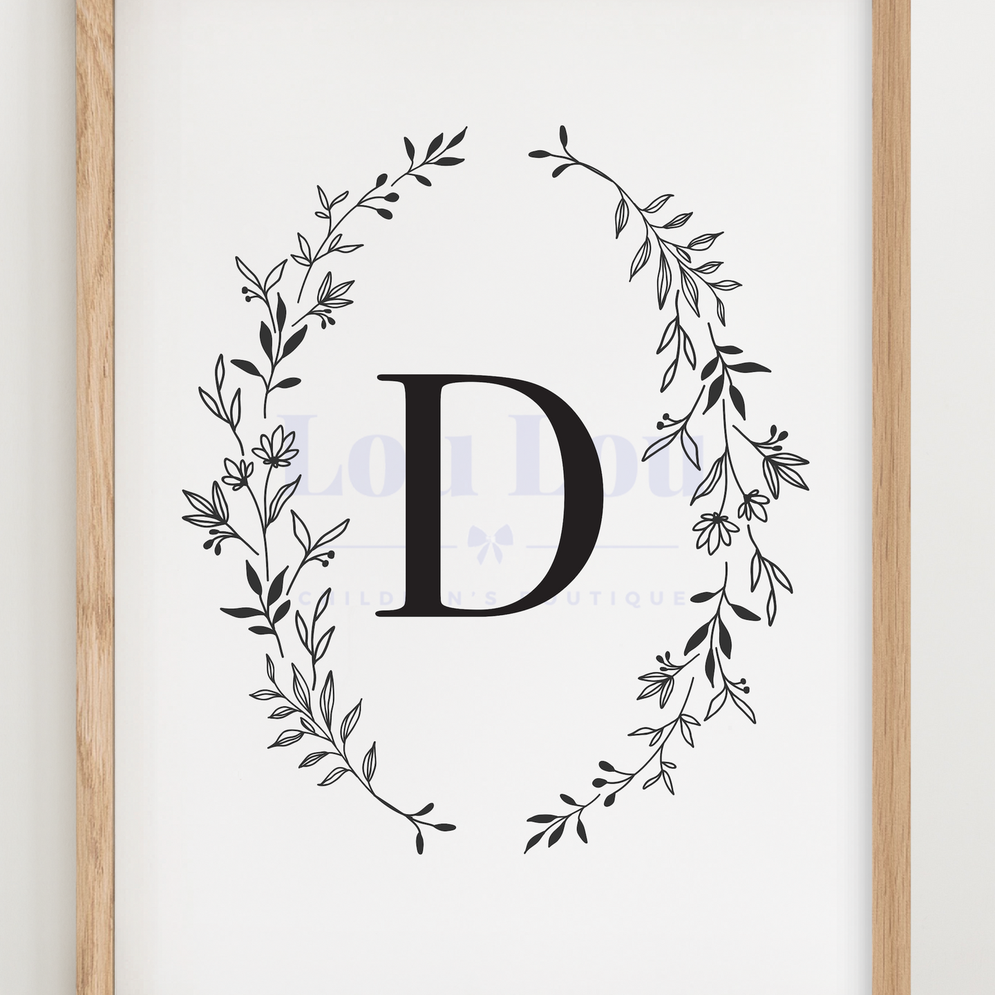 D || Nursery Print || digital download