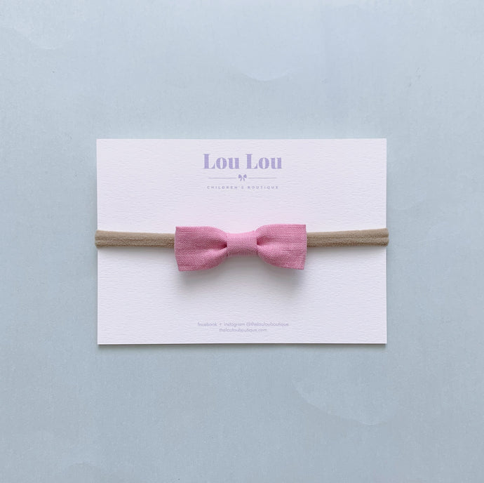 Cloudy Pink - Petite Milly Bow