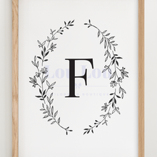 Load image into Gallery viewer, F || Nursery Print || digital download