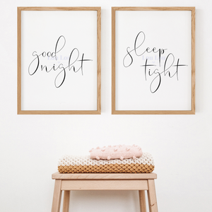 Good Night, Sleep Tight Nursery Print - digital file
