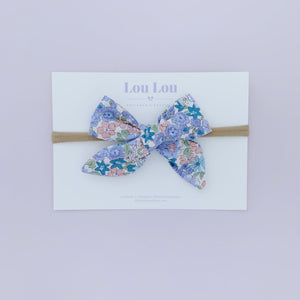 Blue Floral - Polly Bow