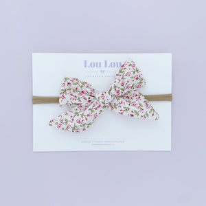 Pink Floral - Polly Bow