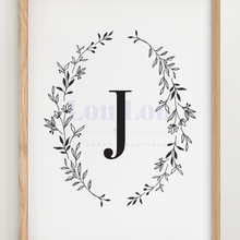 Load image into Gallery viewer, J || Nursery Print || digital download