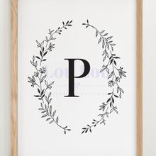 Load image into Gallery viewer, P || Nursery Print || digital download