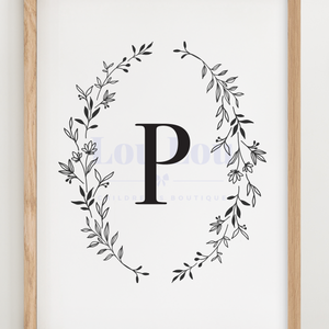 P || Nursery Print || digital download