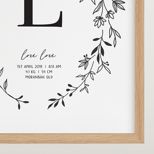 Personalised Nursery Print - digital file