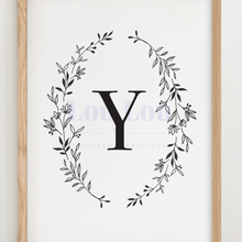 Load image into Gallery viewer, Y || Nursery Print || digital download