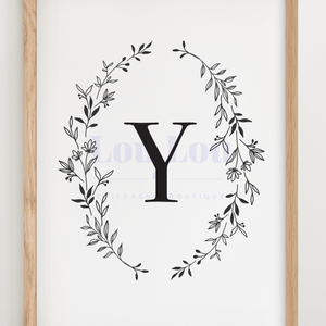 Y || Nursery Print || digital download