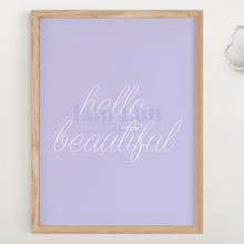 Load image into Gallery viewer, Hello Beautiful - Purple - digital file