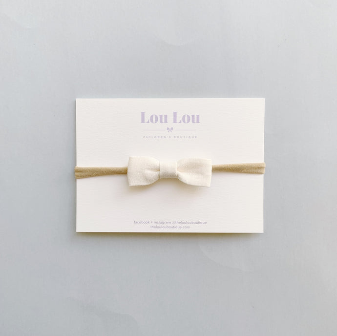 Milk Linen - Petite Milly Bow