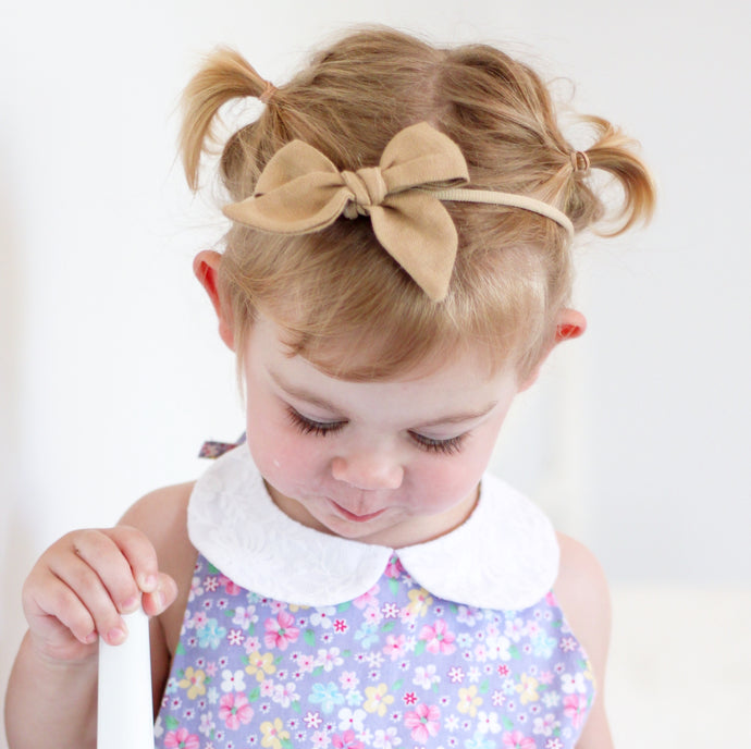Cocoa Linen - Polly Bow