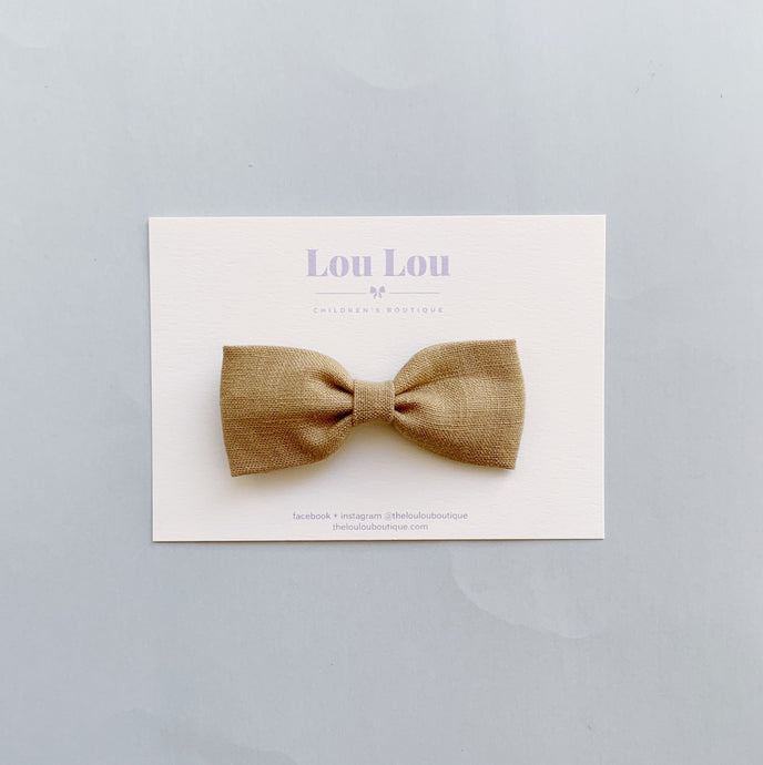 Cocoa Linen - Milly Bow
