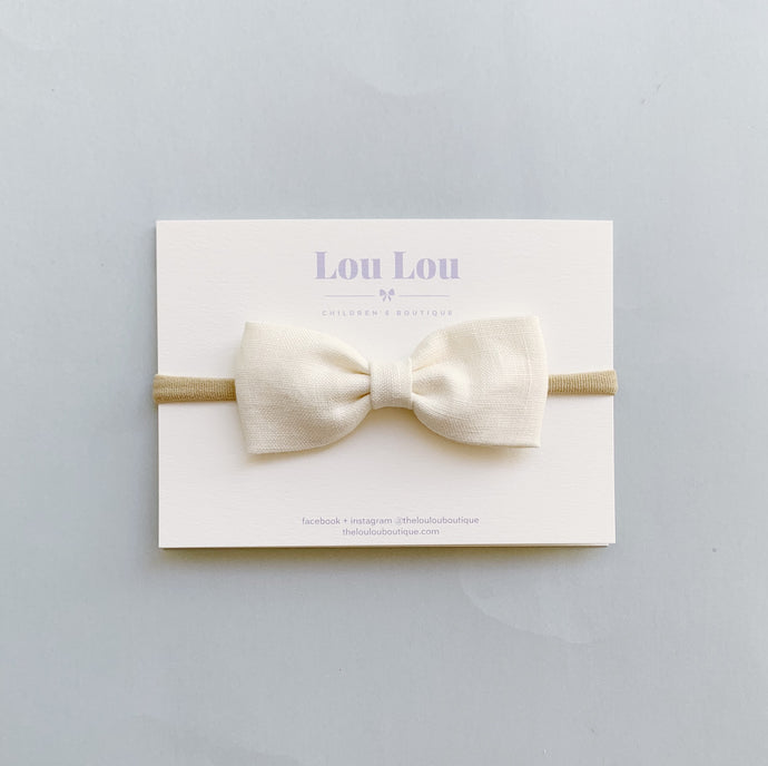 Milk Linen - Milly Bow