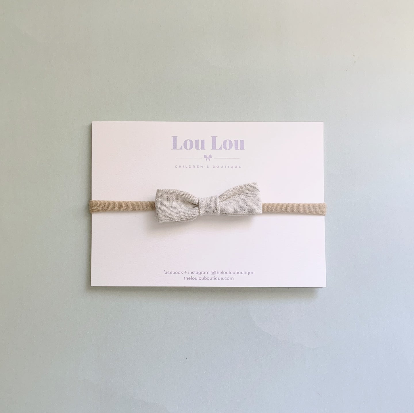 Oatmeal Linen - Petite Milly Bow