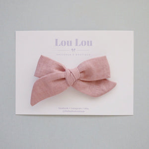 Peachy Linen- Polly Bow
