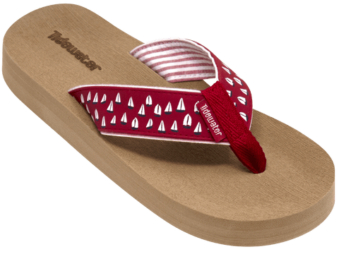 Red Sailboats - Tidewater Sandals | Voted Most Comfortable Sandals