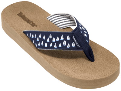 Navy Sailboats - Tidewater Sandals | Voted Most Comfortable Flip Flops