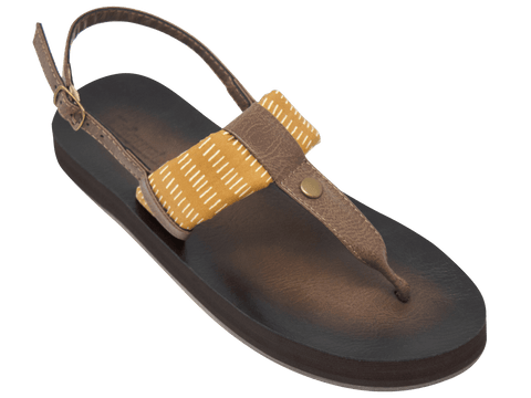 Montauk Mustard Stripe - Tidewater Sandals | Voted Most Comfortable Flip Flops