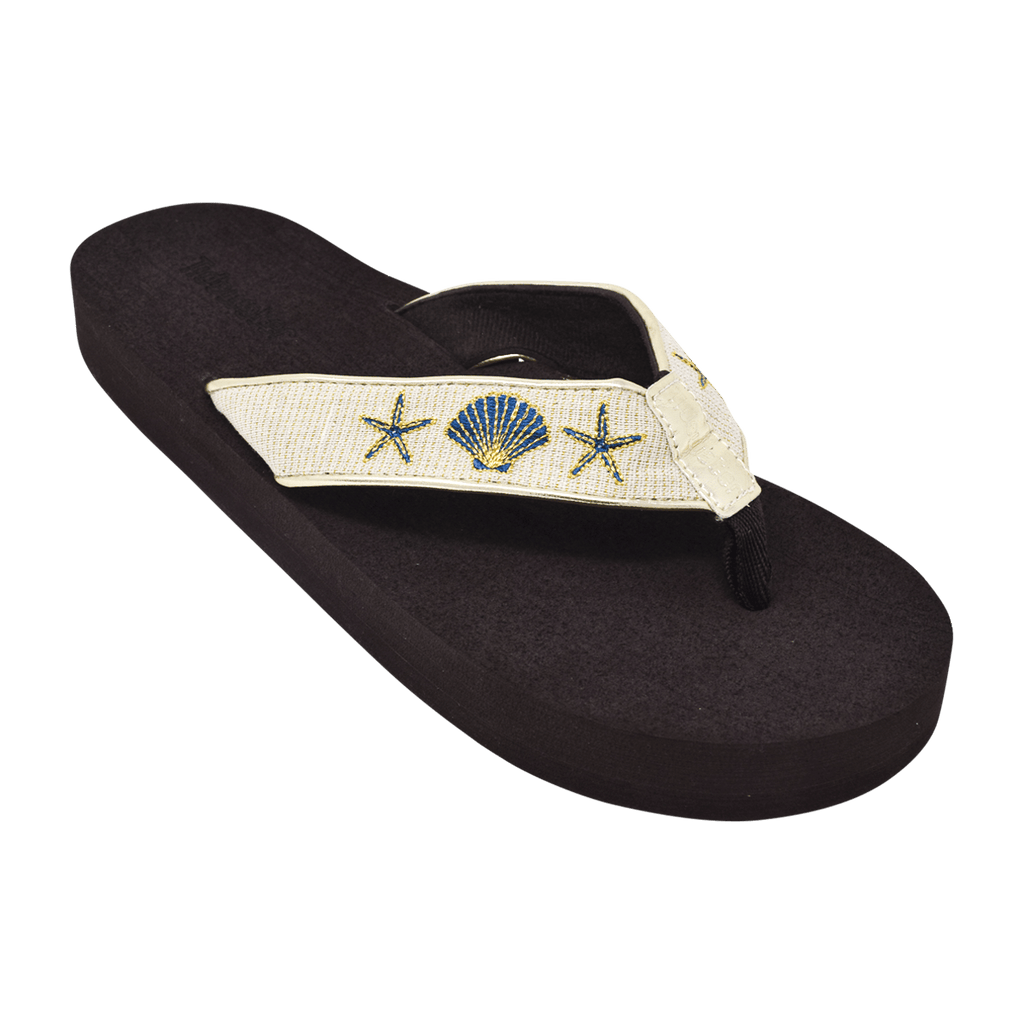 Gold Shells - Tidewater Sandals | Voted Most Comfortable Flip Flops