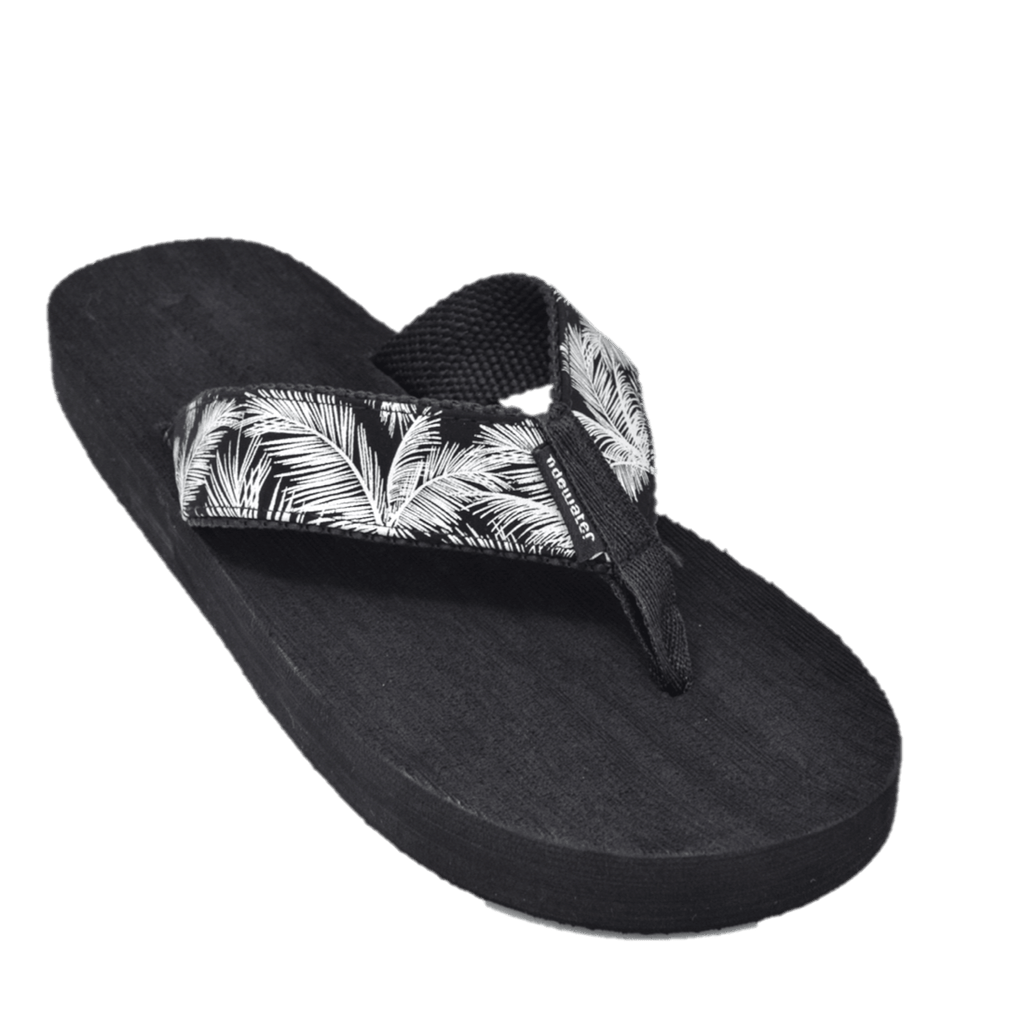 Palm Black and Silver - Tidewater Sandals | Voted Most Comfortable Flip Flops