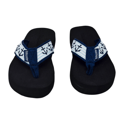 Seersucker Anchor Kids - Tidewater Sandals | Voted Most Comfortable Flip Flops