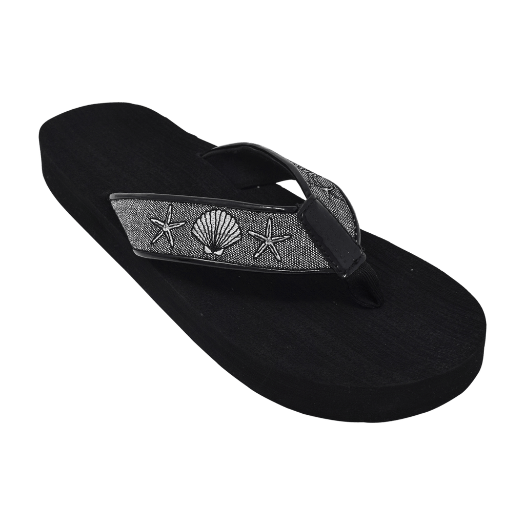 Silver Shells - Tidewater Sandals | Voted Most Comfortable Flip Flops