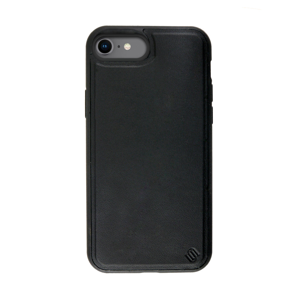 Eco Friendly Genuine Leather Black iPhone SE / 8 / 7 / 6 Case
