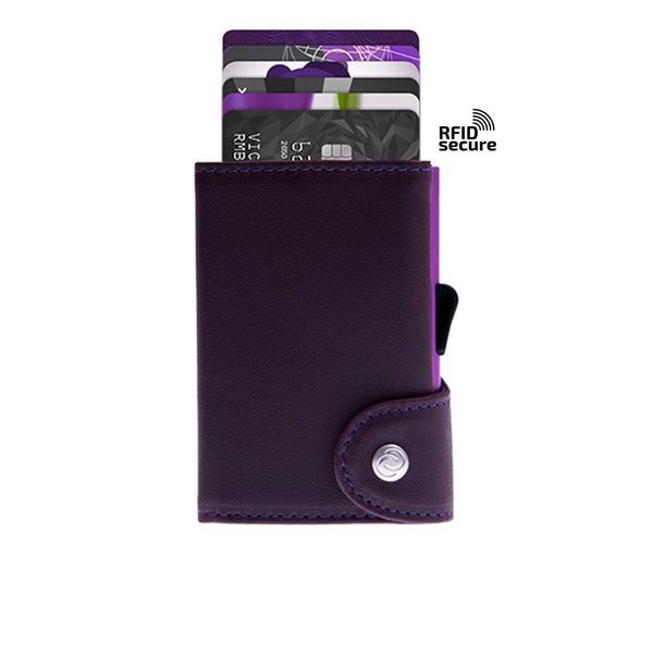 Cheshire Automatic Card Storage Wallet (no coin pocket) Purple