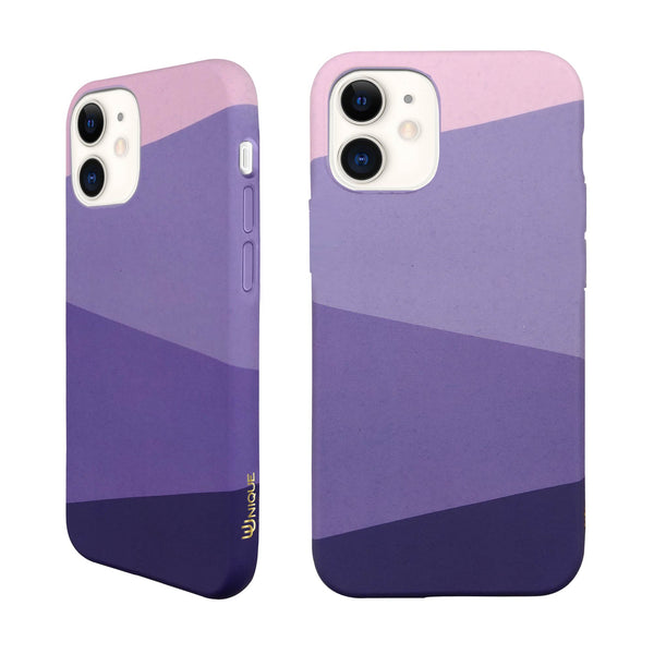 Eco Friendly iPhone 11 Case - Geometric Purple