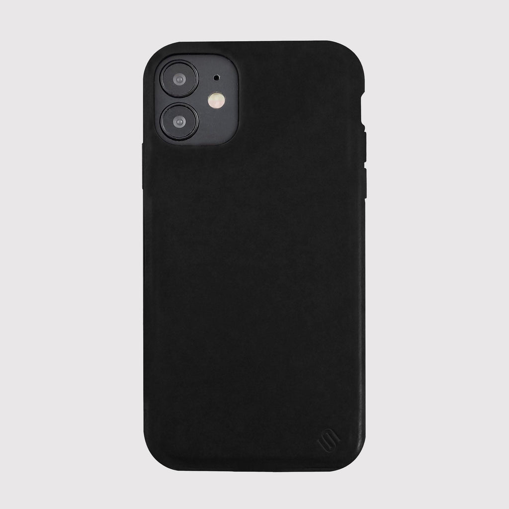 Black Genuine Leather Phone Case