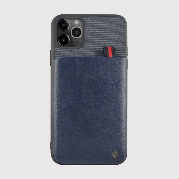 Blue iPhone 11 Pro Case With Card Holder