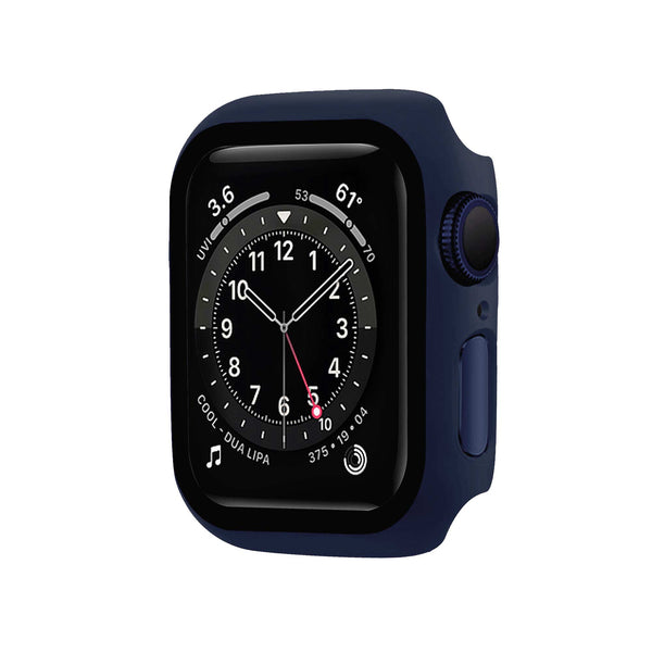 Blue Tempered Glass Protective Case for Apple Watch