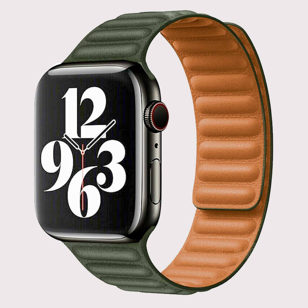 Vegan PU Leather Green Apple Watch Band 38/40 mm