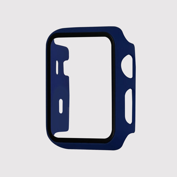 Blue Tempered Glass Apple Watch Case