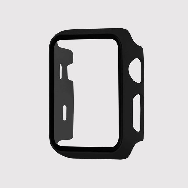 Black Tempered Glass Apple Watch Case
