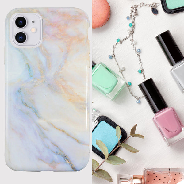 Eco Friendly Printed White Marble iPhone 11 Case
