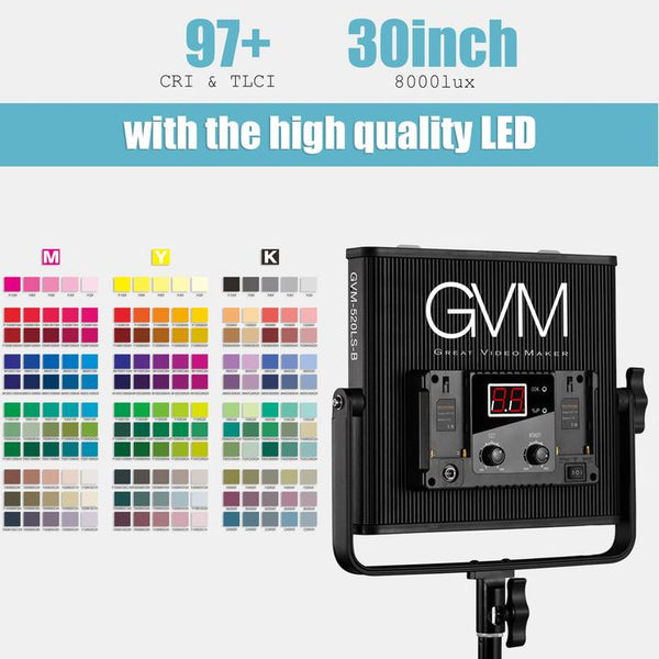 GVM 520LS LED Video Light