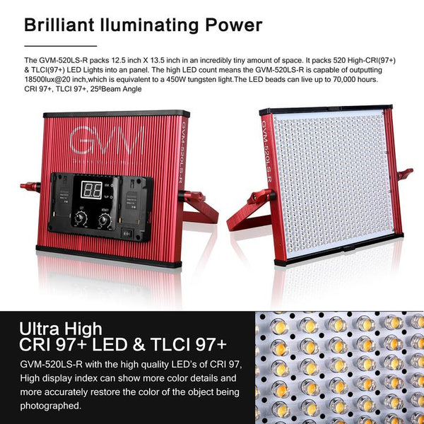 GVM 520LS Bi-Color Led Light
