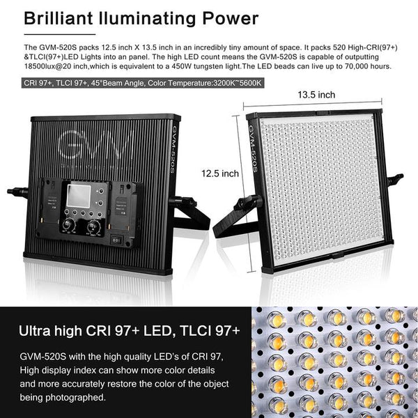 GVM 520S LED Light