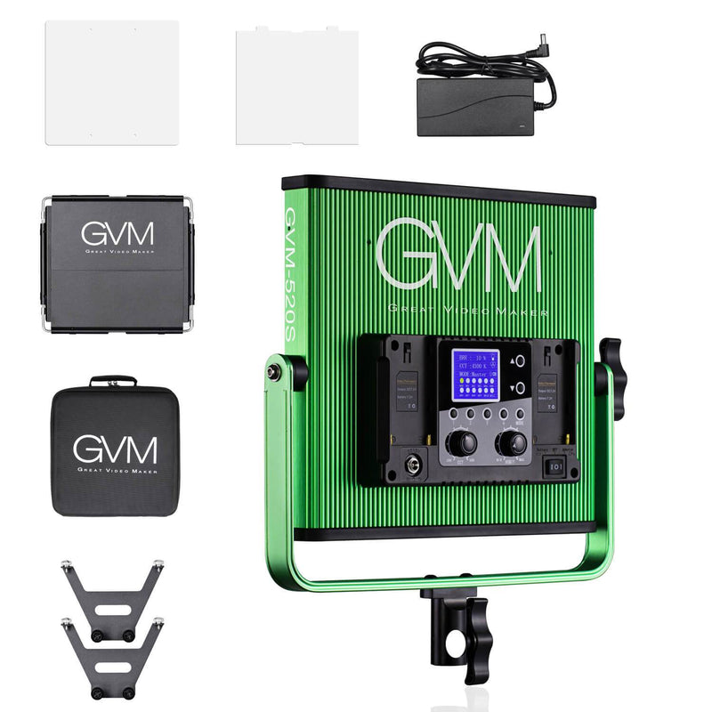GVM-520S Bi-Color Video Light kit Green - GVMLED