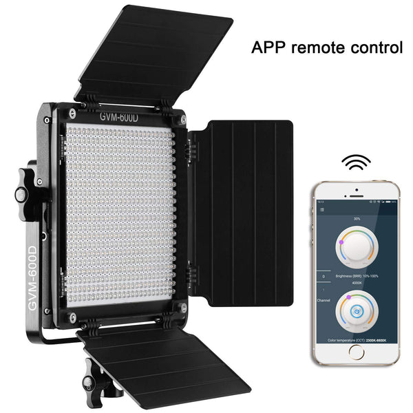 GVM 600D LED Video Light Bi-Color Photography Lighting Kit - GVMLED
