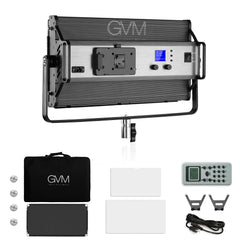 GVM 110S Bi-Color /110 RGB LED Stage Video Light Large Panel Professional Kit with Remote Control - GVMLED