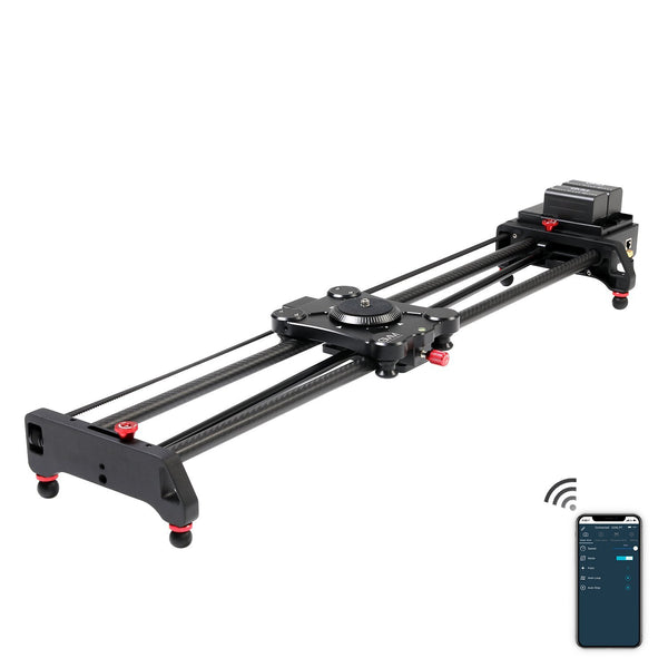 GVM-1.5D Wireless Video Carbon Fiber Motor Camera Slider with Bluetooth Remote &Mobile App Control - GVMLED