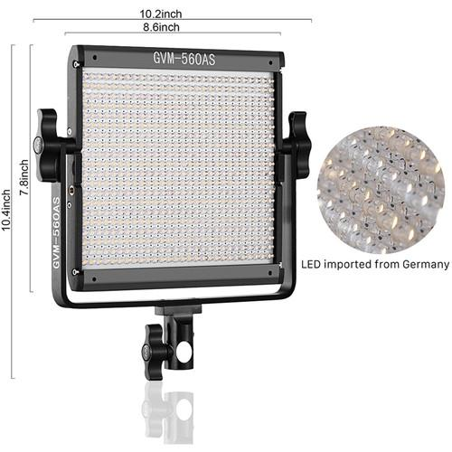 GVM 560AS Bi-Color LED Panel Light Kit - GVMLED