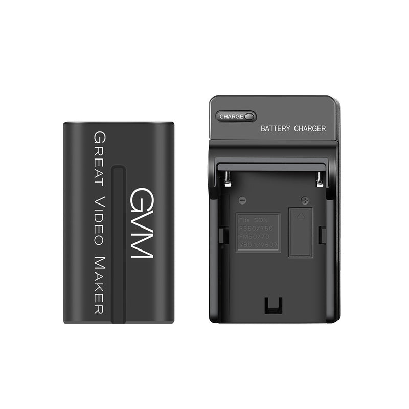 GVM NP-F970 6600mAh Battery with Travel Charger - GVMLED