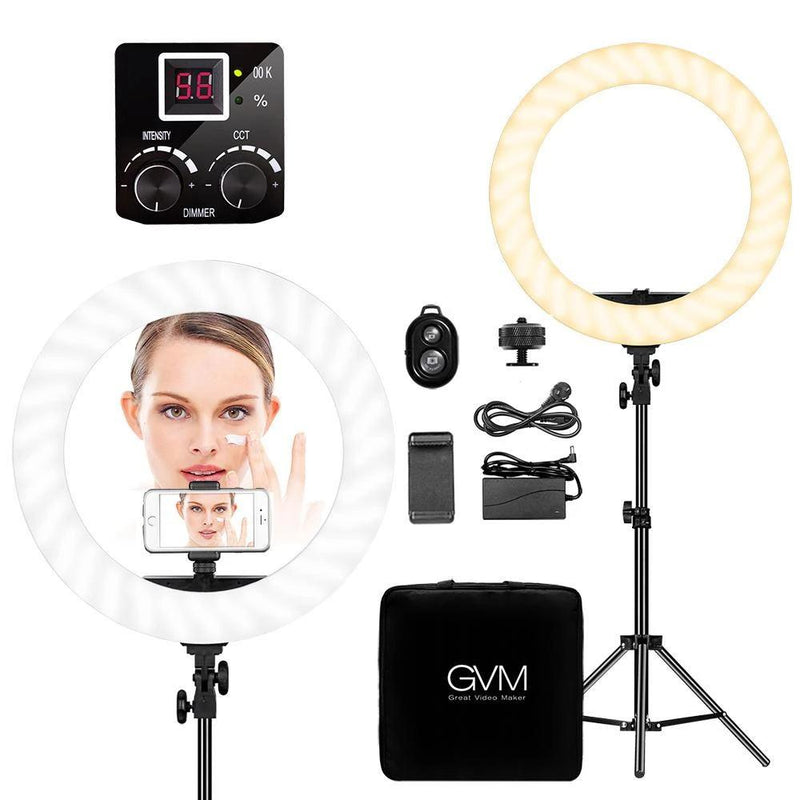 "GVM Bi-Color LED Ring Light (18"") - GVMLED"