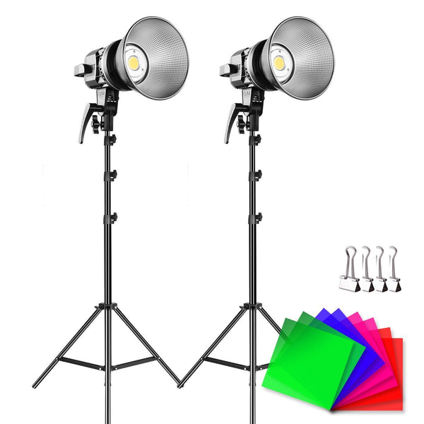 GVM LED Video Soft Light (Daylight-Balanced) LS-p80s LED 2-Light Kit with Filters - GVMLED