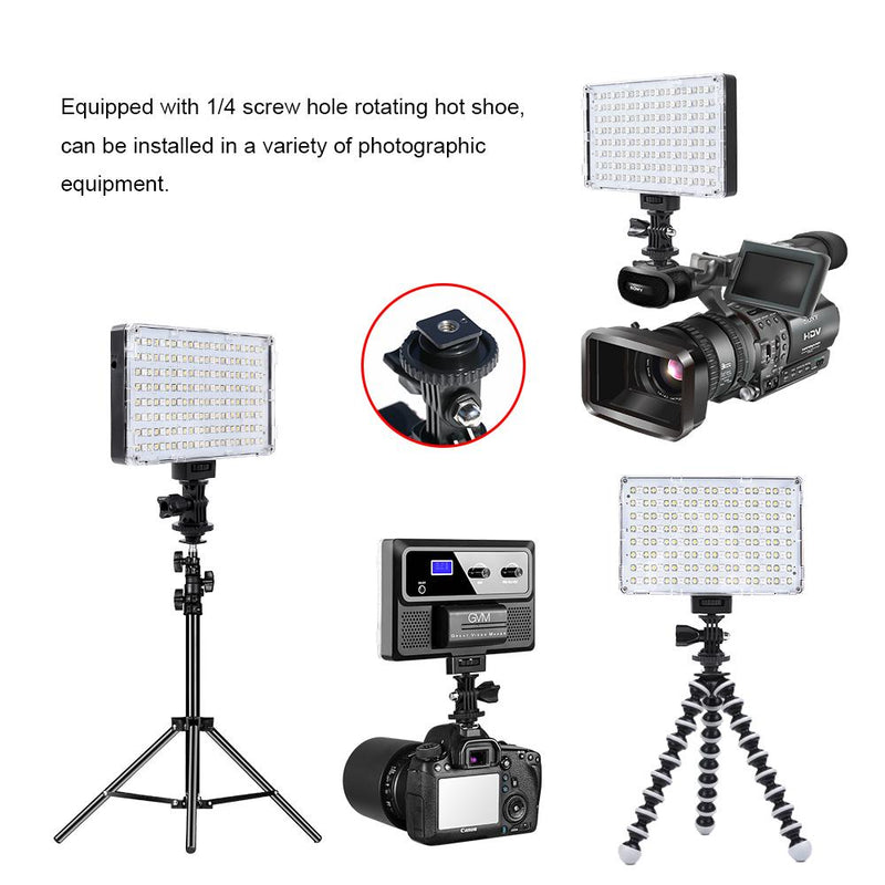 GVM-RGB-10S Professional Video RGB on Camera Video Light with Control Knob - GVMLED