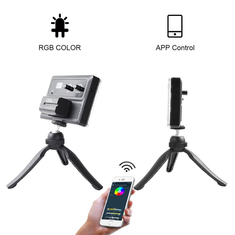 GVM RGB-10S2L Professional Video on Camera Video Light 2 Light Kit with Control Knob - GVMLED