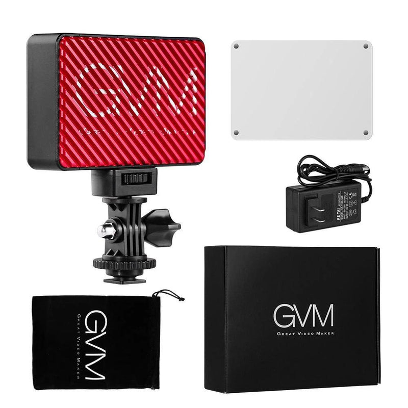 GVM 7S RGB LED On-Camera Video Light with Wi-Fi Control - GVMLED